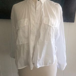 Lightweight cotton button up side ties and flowy